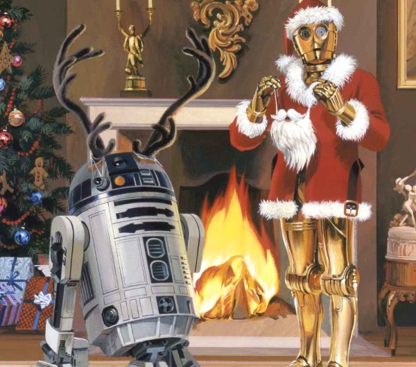 C-3PO and R2D2 Christmas